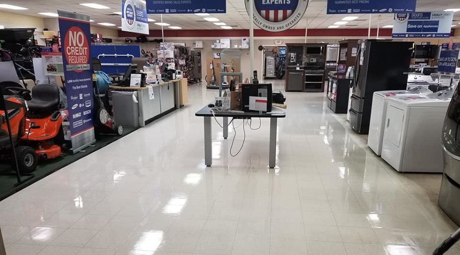 vct tile floor strip and wax